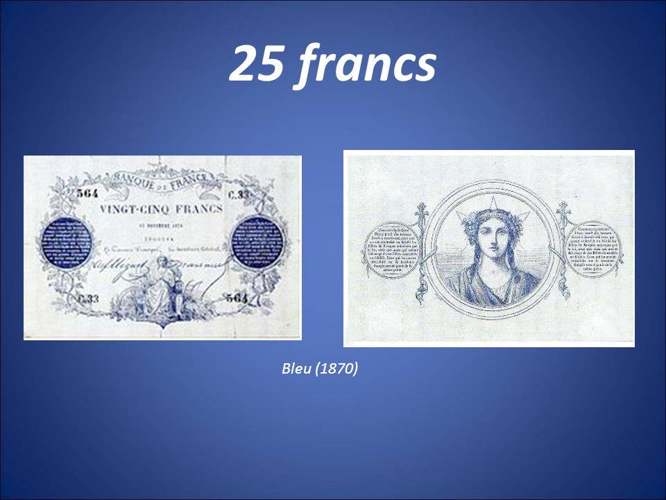 25 francs Bleu (1870)