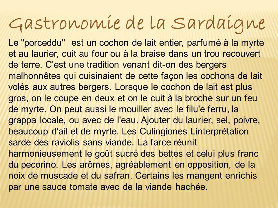 Gastronomie de la Sardaigne