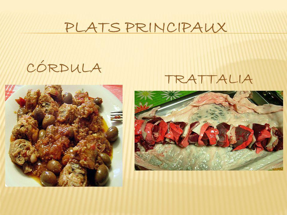plats principaux CÓRDULA TRATTALIA