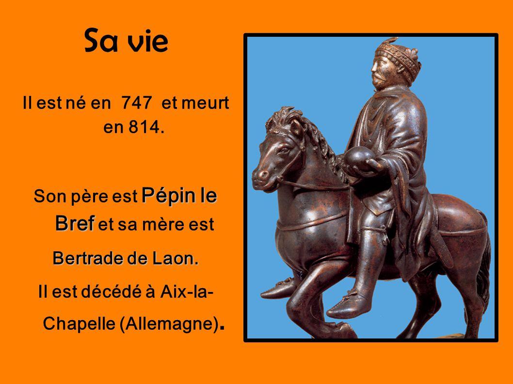 Sa vie Il est né en 747 et meurt en 814.