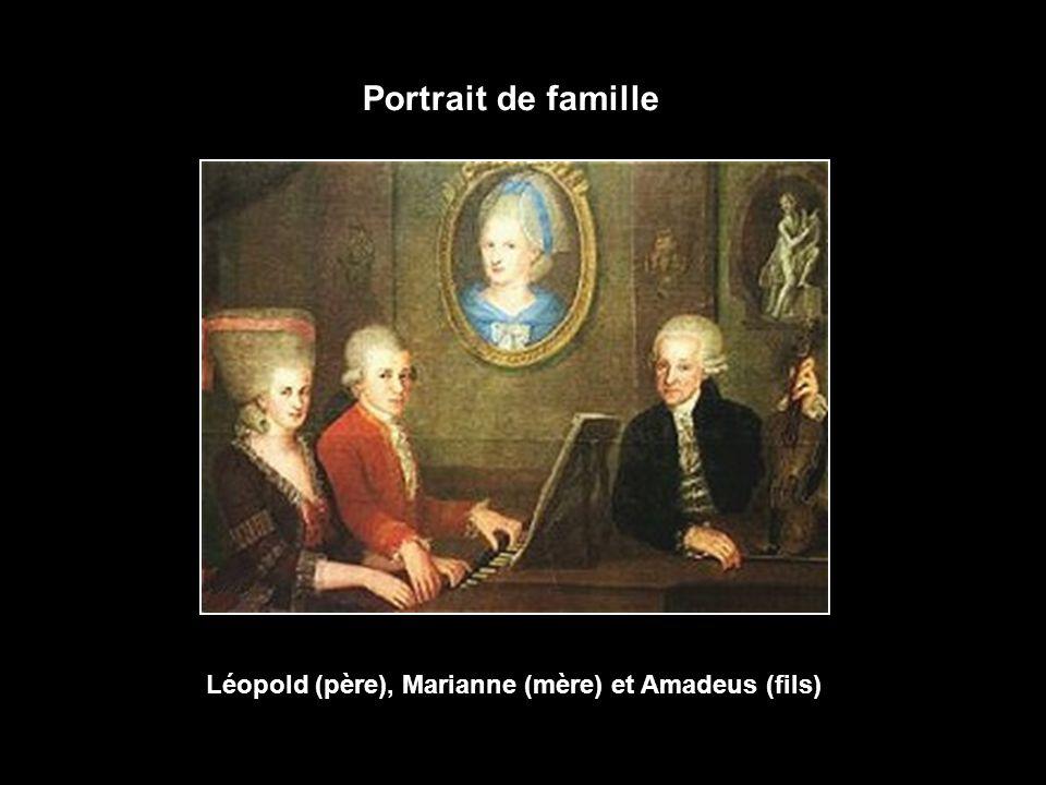 Léopold (père), Marianne (mère) et Amadeus (fils)