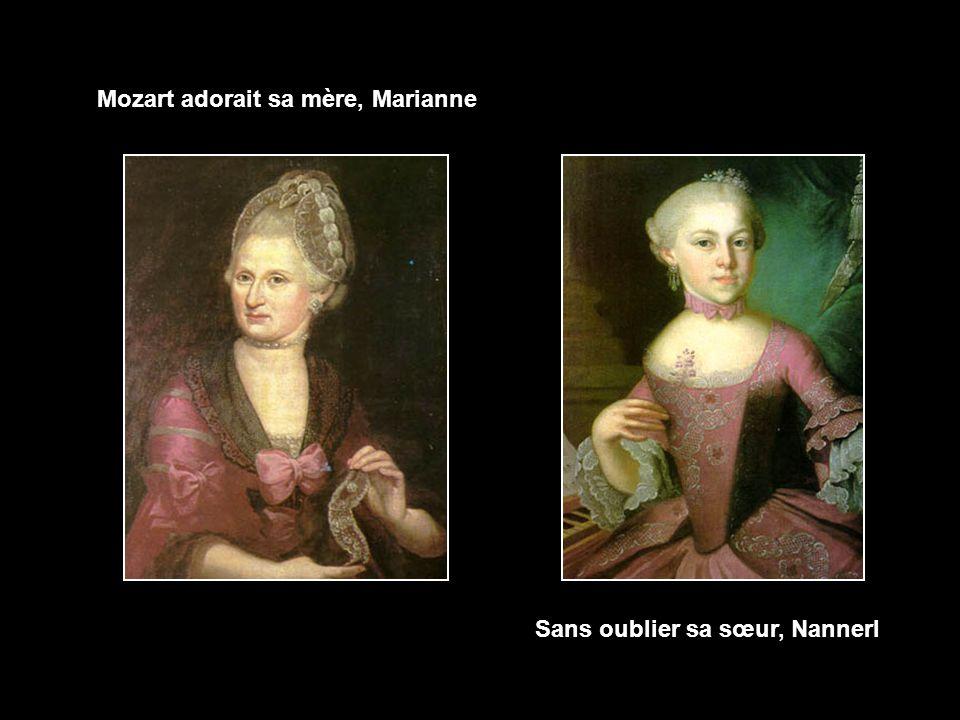 Mozart adorait sa mère, Marianne