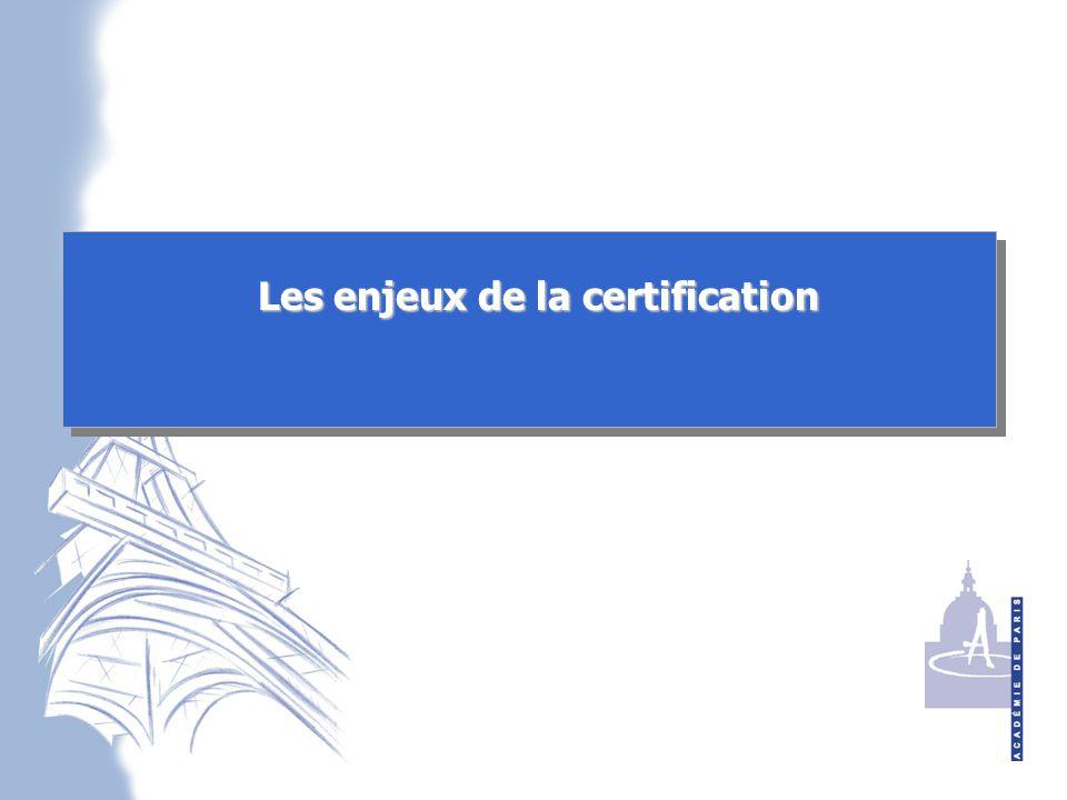Les enjeux de la certification