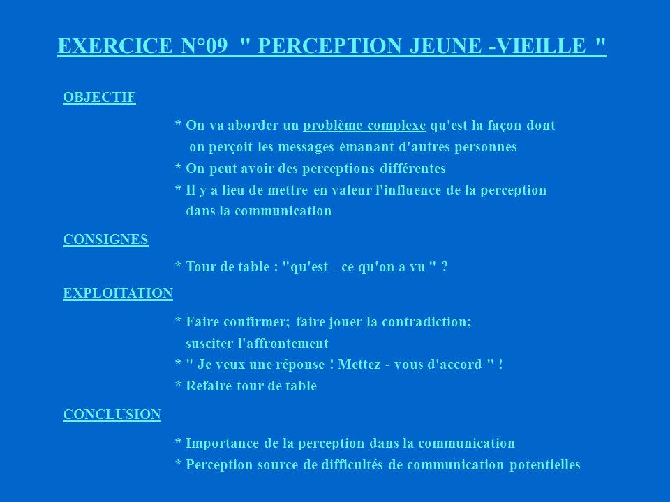 EXERCICE N°09 PERCEPTION JEUNE -VIEILLE