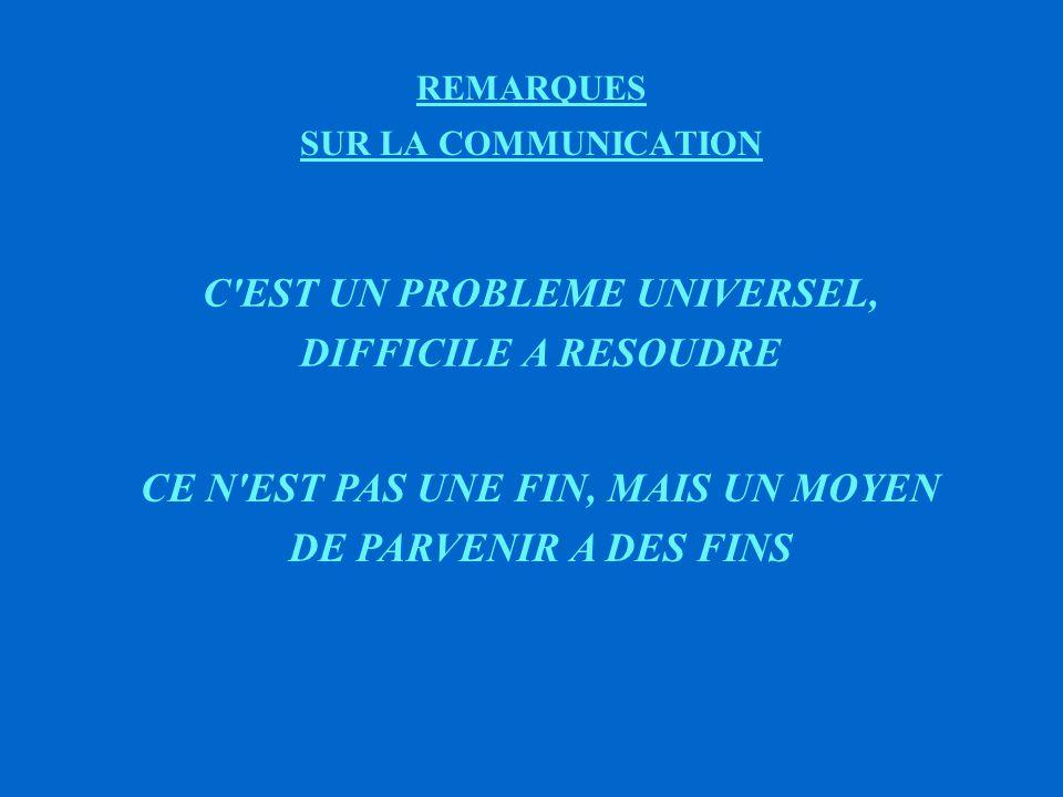 REMARQUES SUR LA COMMUNICATION