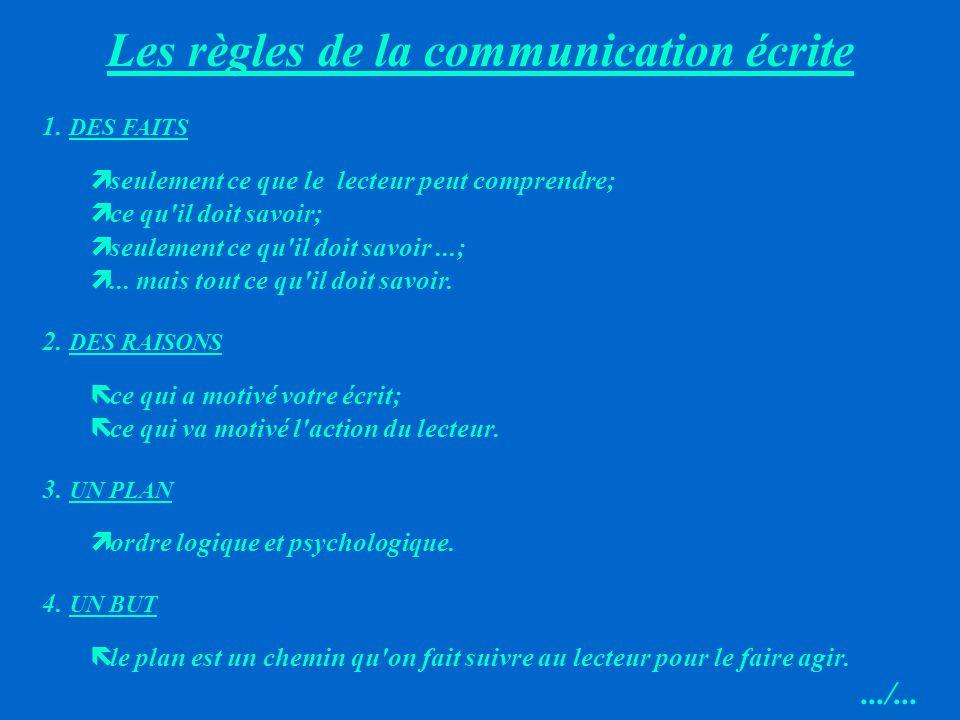 Les règles de la communication écrite