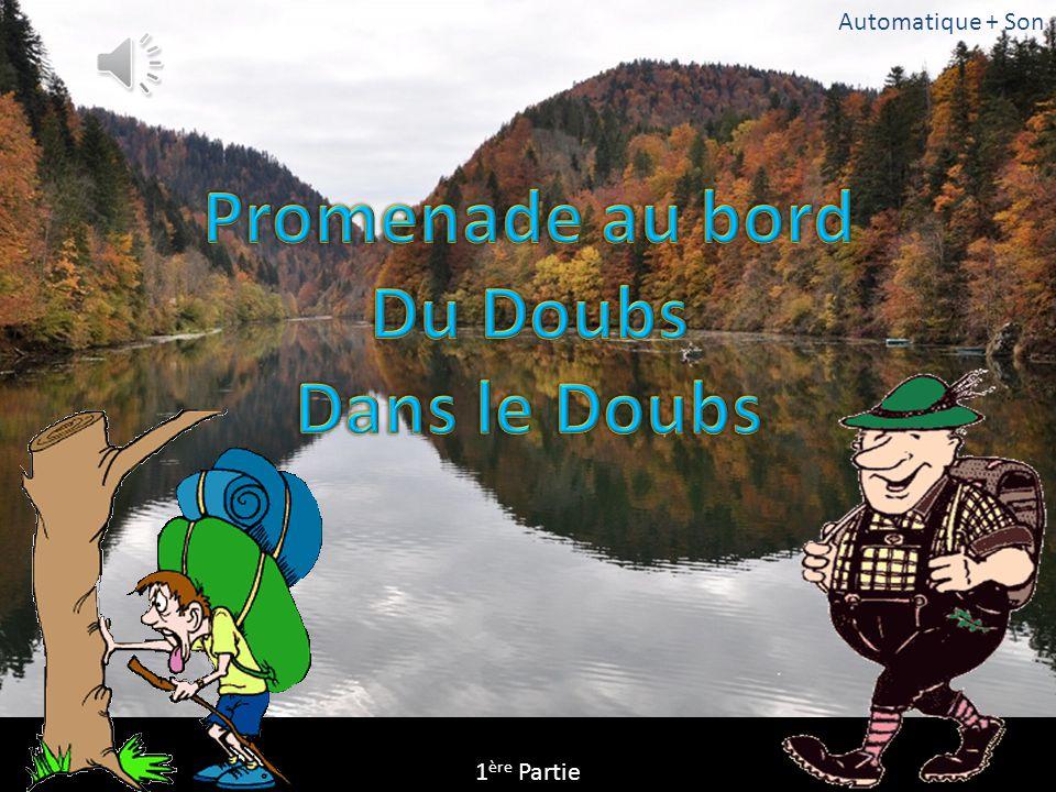 Promenade au bord Du Doubs Dans le Doubs