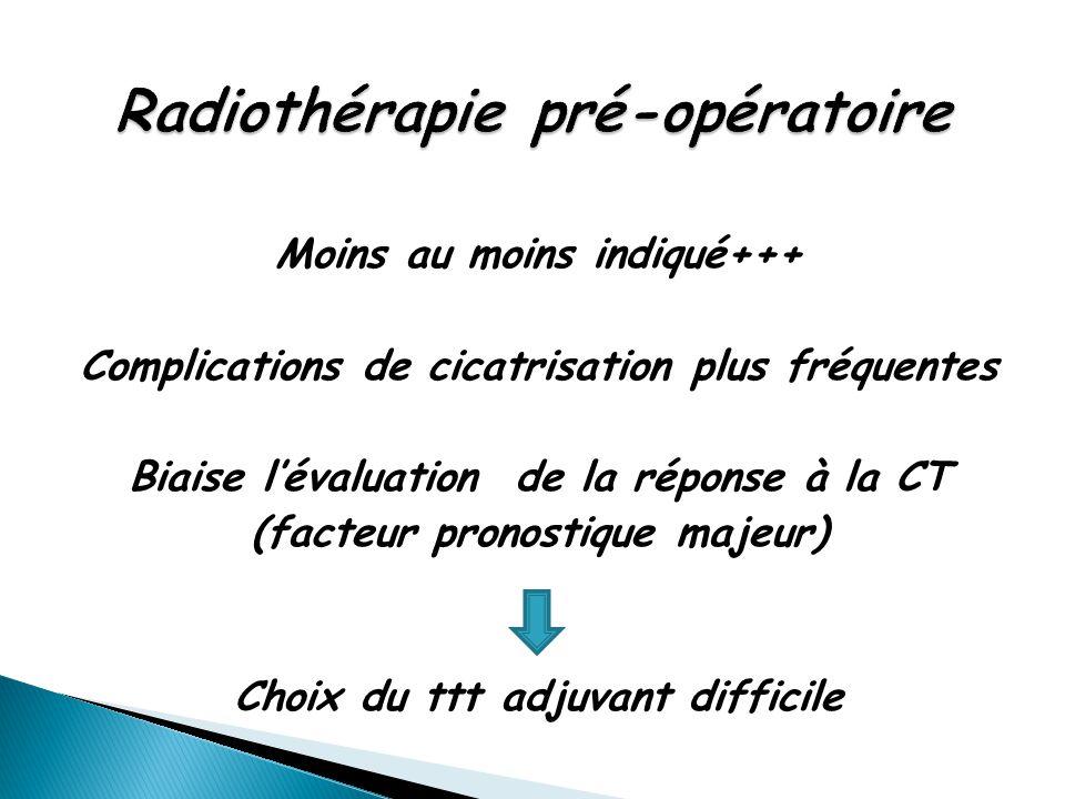 Radiothérapie pré-opératoire