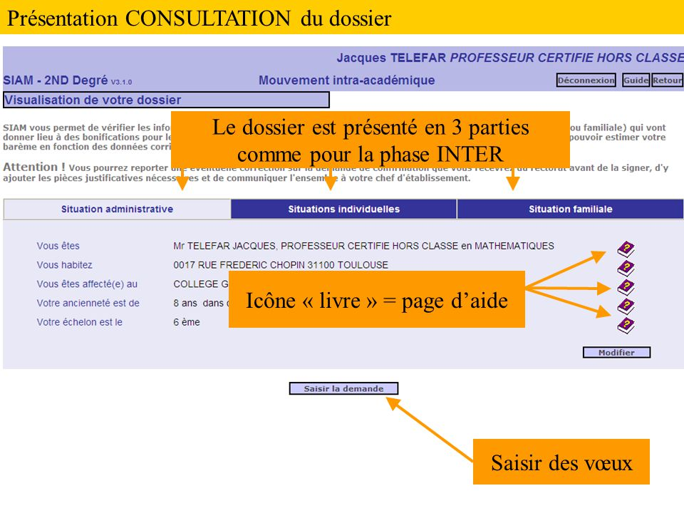 Présentation CONSULTATION du dossier