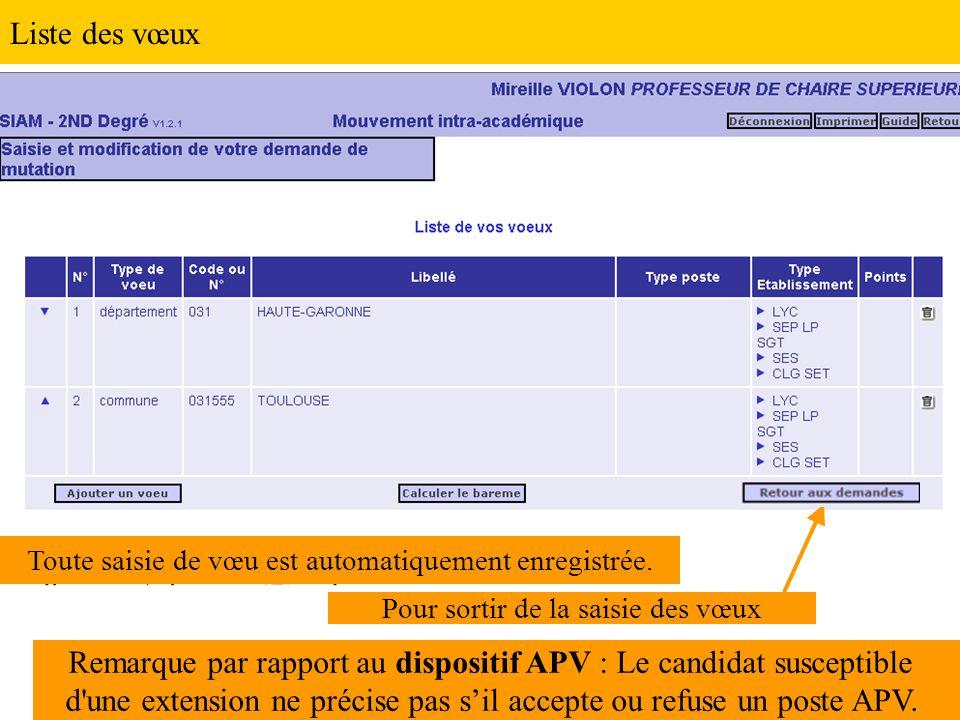 Remarque par rapport au dispositif APV : Le candidat susceptible