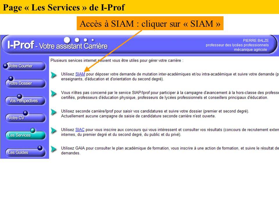 Page « Les Services » de I-Prof