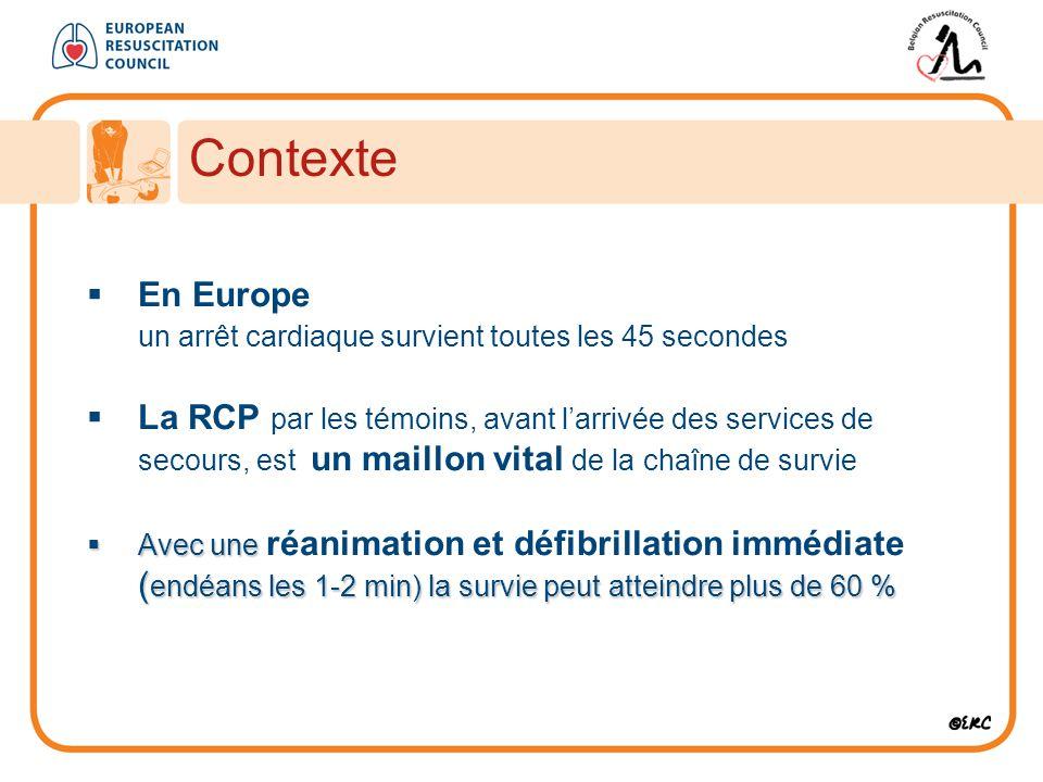 Contexte En Europe. un arrêt cardiaque survient toutes les 45 secondes.