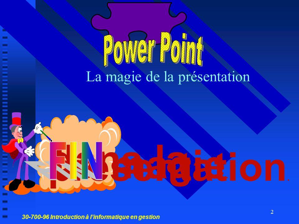 La magie de la présentation