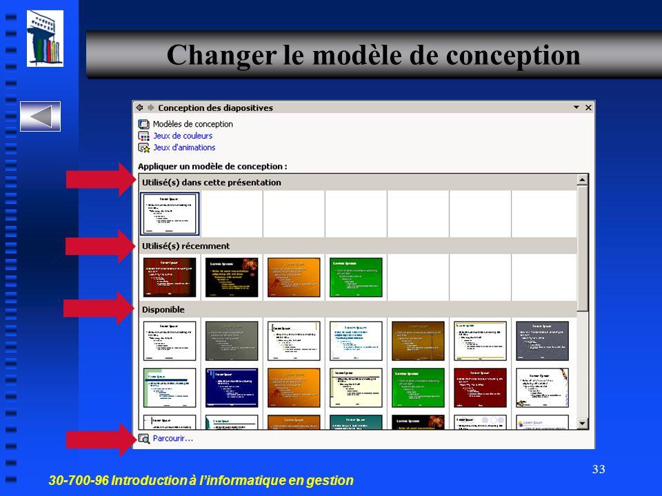 Changer le modèle de conception