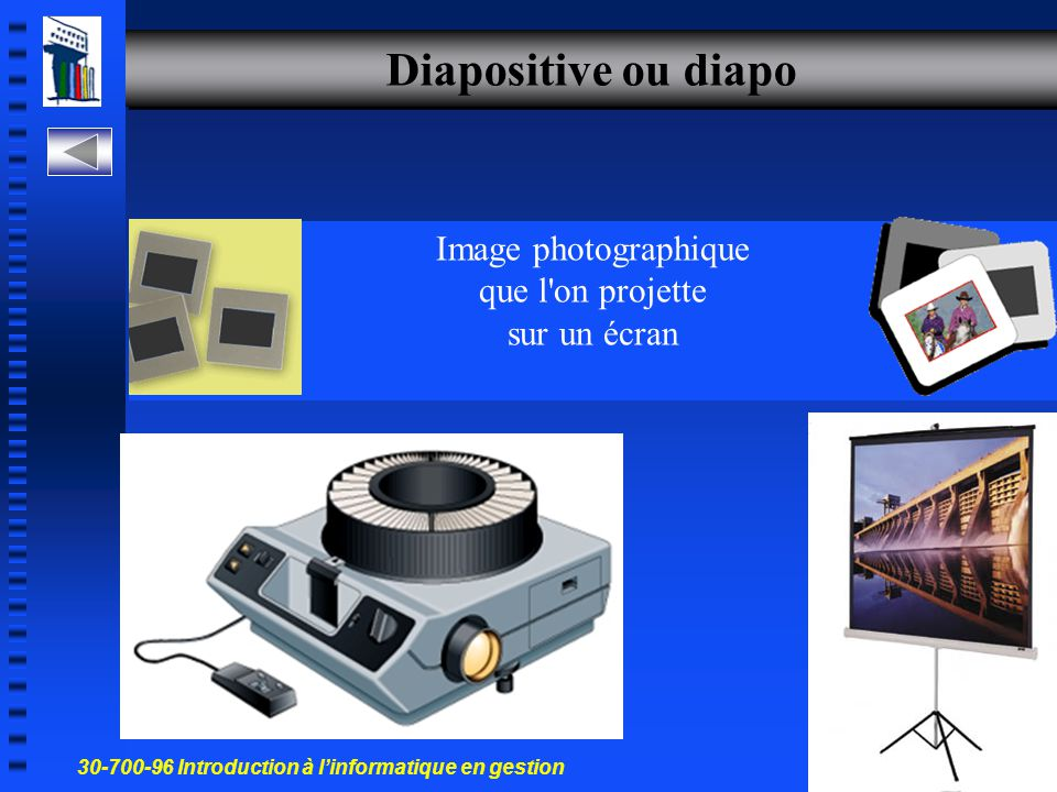 Image photographique que l on projette sur un écran