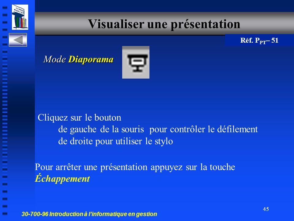 Visualiser une présentation