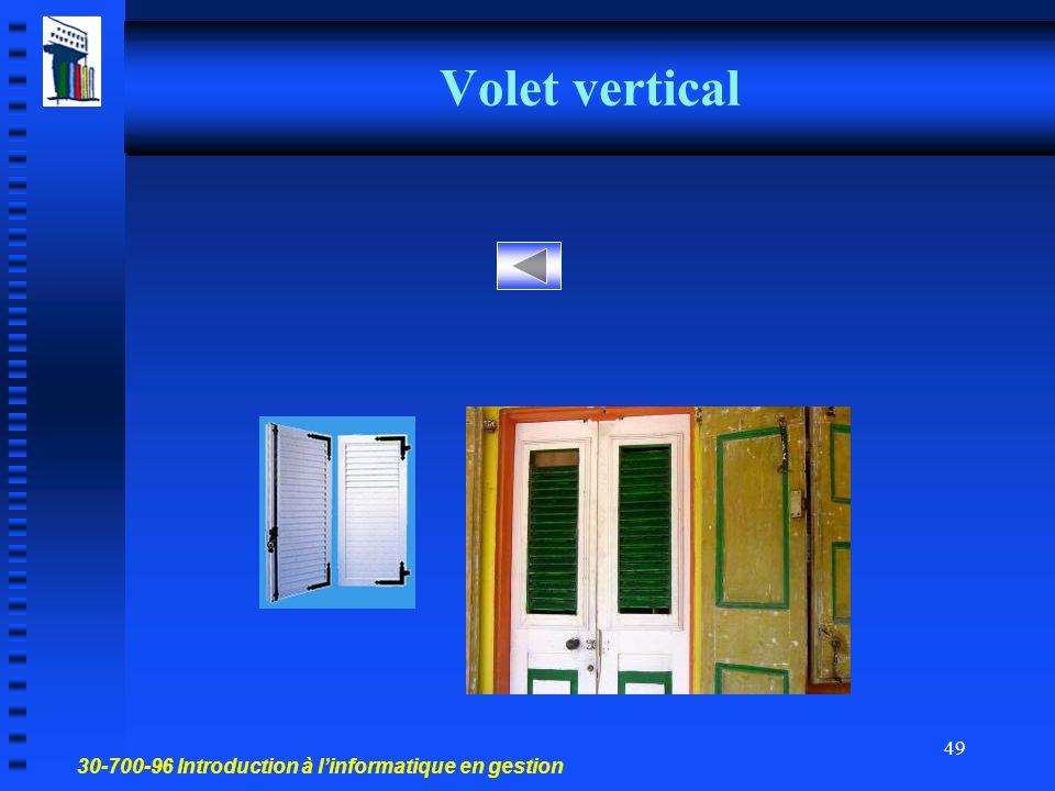 Volet vertical