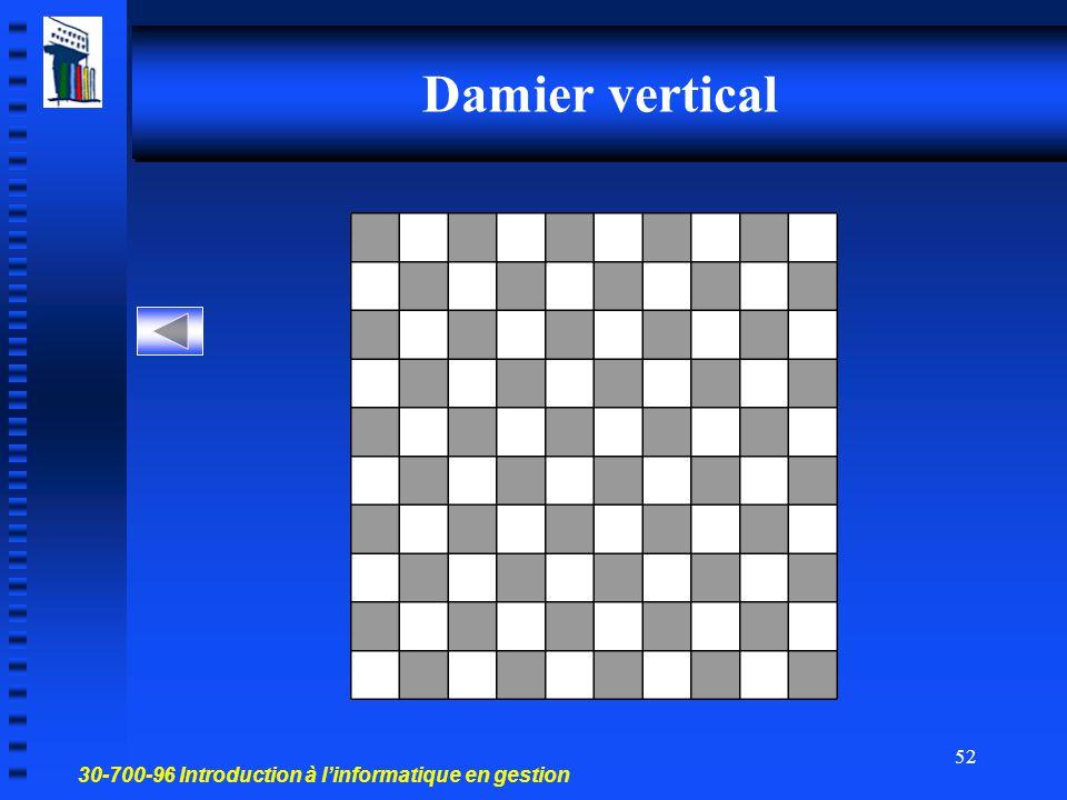 Damier vertical