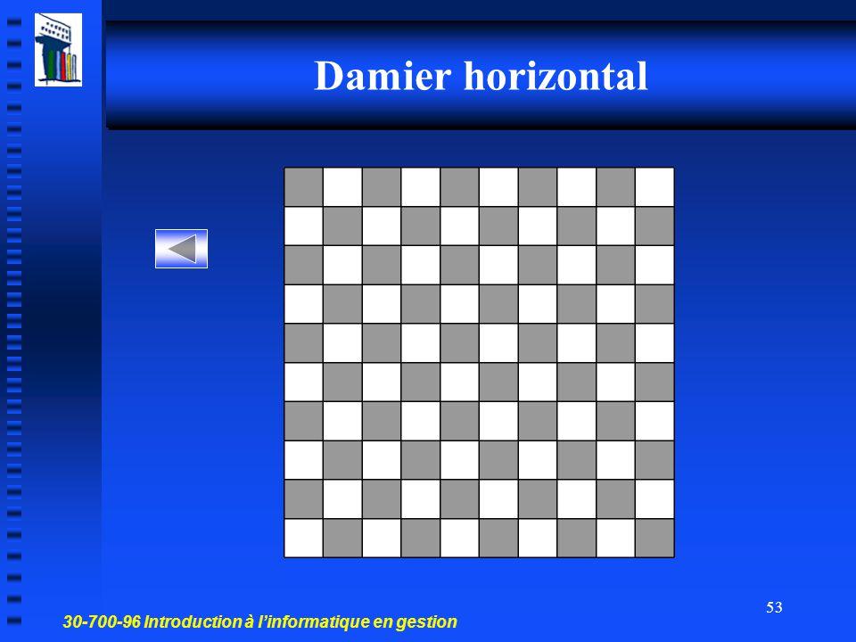 Damier horizontal