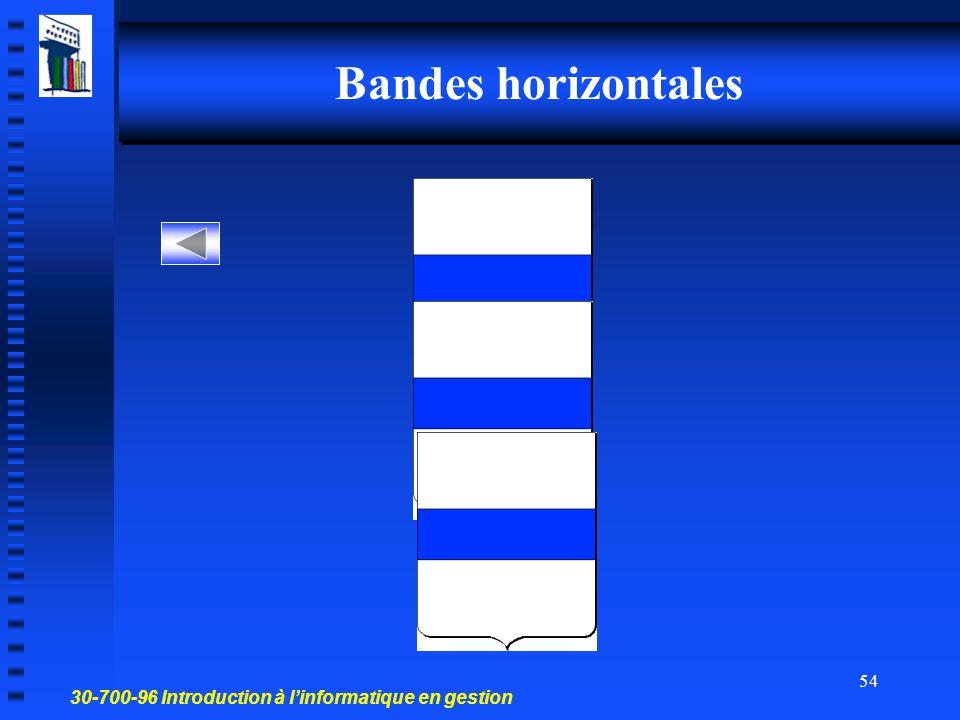 Bandes horizontales