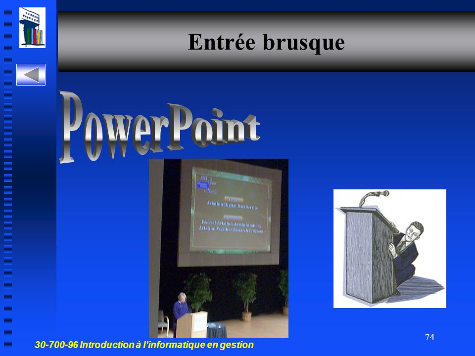Entrée brusque PowerPoint