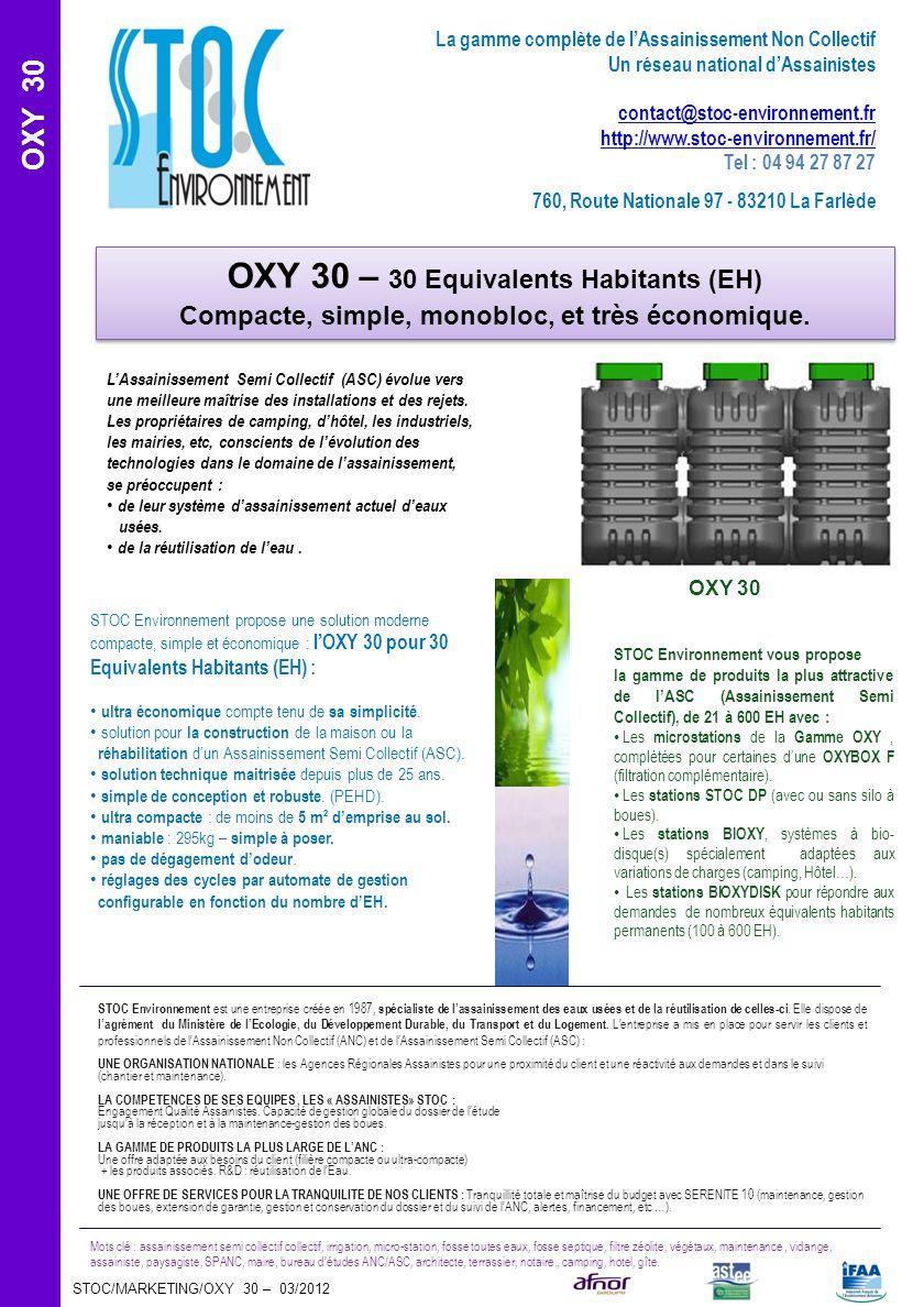 OXY 30 – 30 Equivalents Habitants (EH)