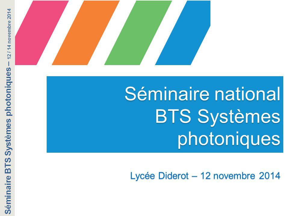 BTS Systèmes photoniques