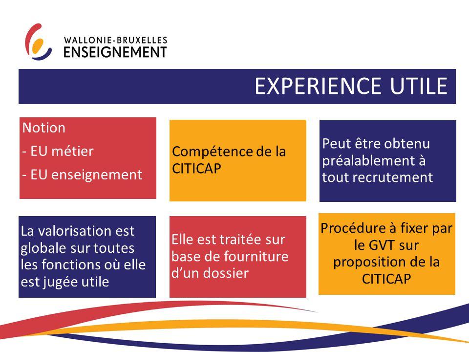 Procédure à fixer par le GVT sur proposition de la CITICAP
