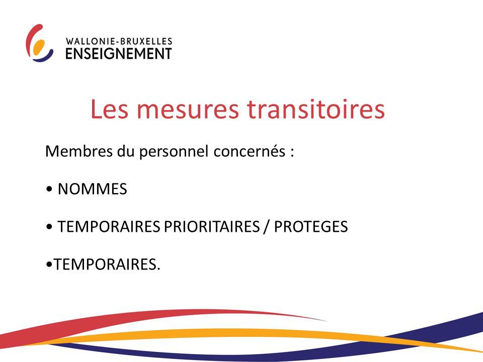 Les mesures transitoires