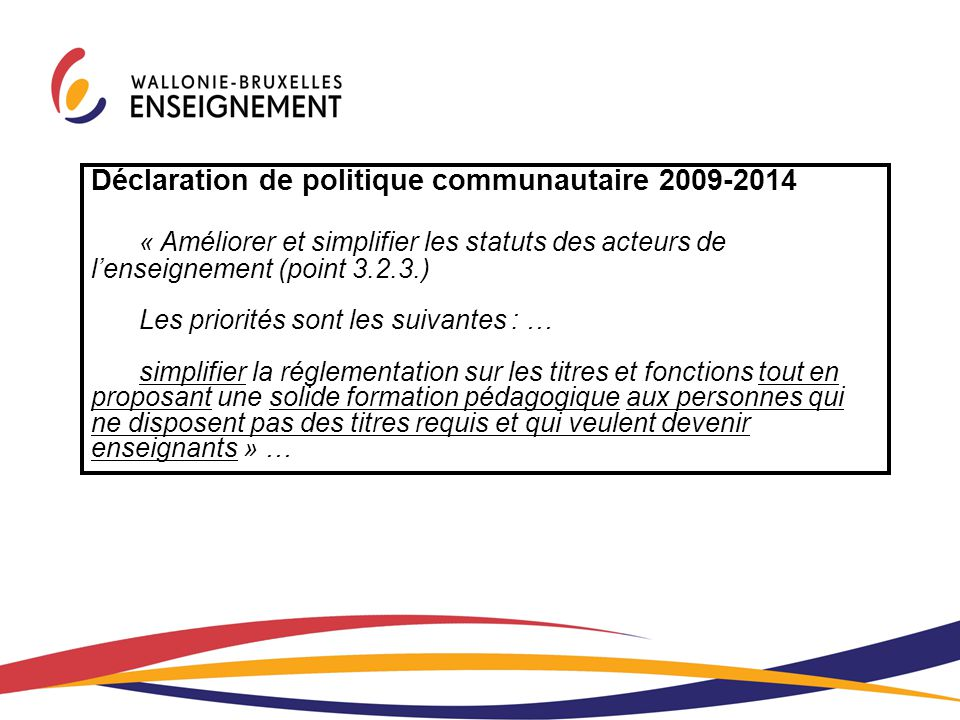 Déclaration de politique communautaire 2009-2014