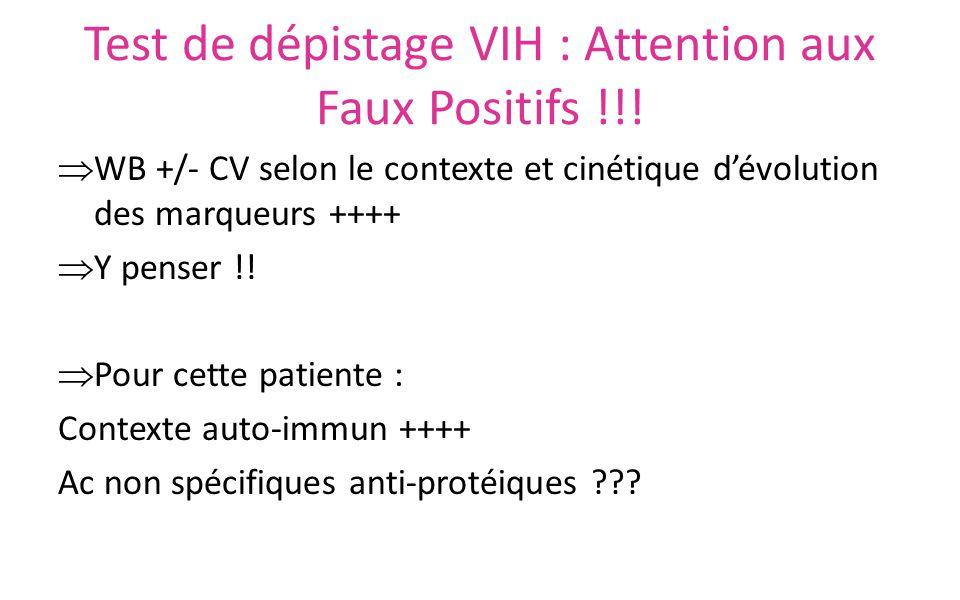 Test de dépistage VIH : Attention aux Faux Positifs !!!