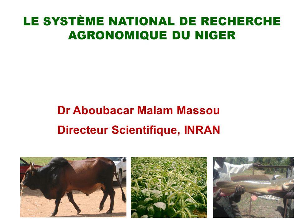 Le Système National de Recherche agronomique du Niger