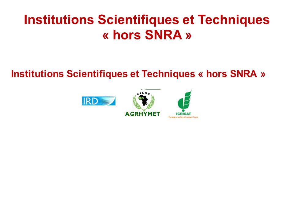 Institutions Scientifiques et Techniques « hors SNRA »