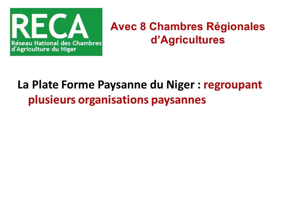 Avec 8 Chambres Régionales d'Agricultures