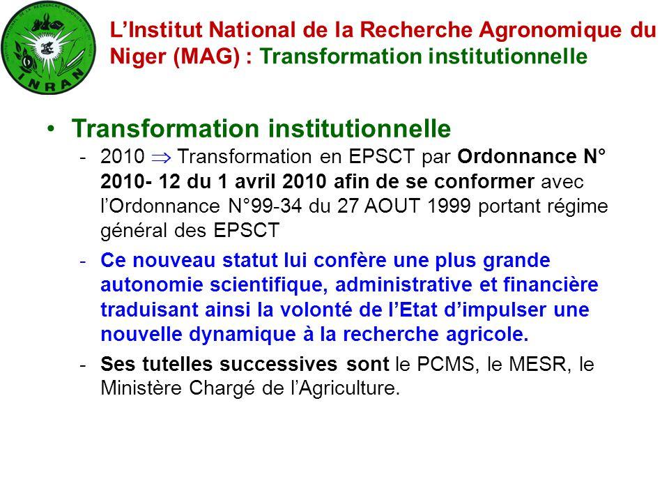 Transformation institutionnelle