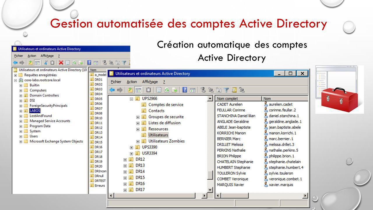 Création automatique des comptes Active Directory