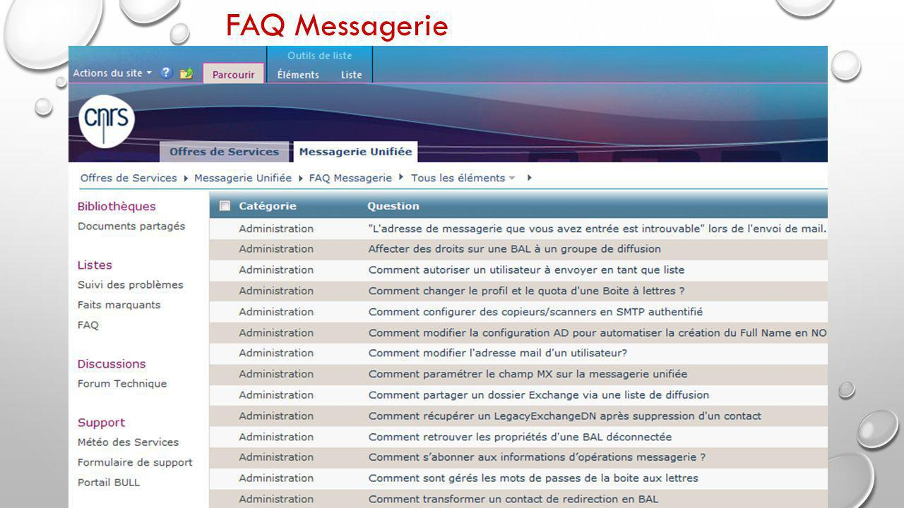 FAQ Messagerie