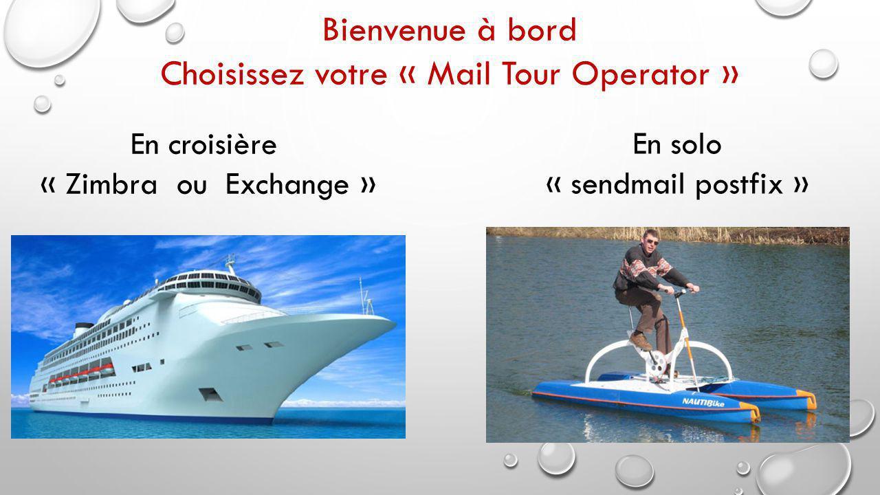 Choisissez votre « Mail Tour Operator »