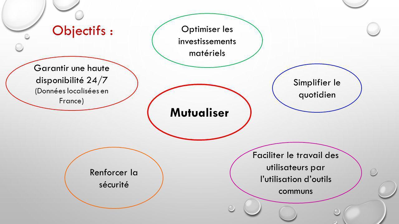 Objectifs : Mutualiser Optimiser les investissements matériels