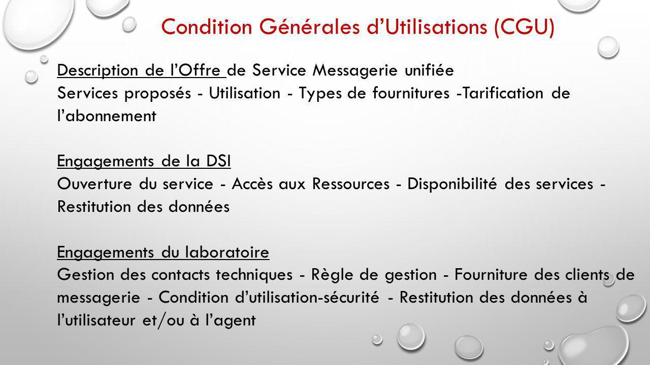 Condition Générales d'Utilisations (CGU)