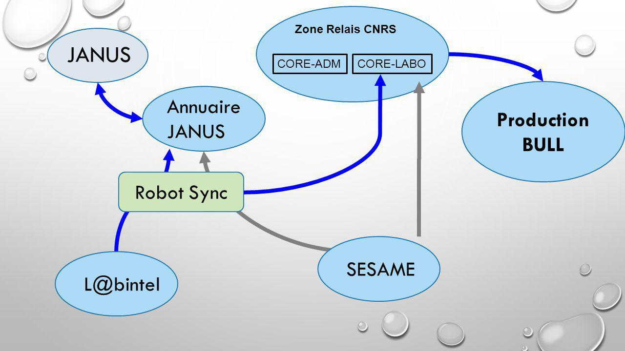 JANUS Annuaire Production BULL JANUS Robot Sync SESAME L@bintel
