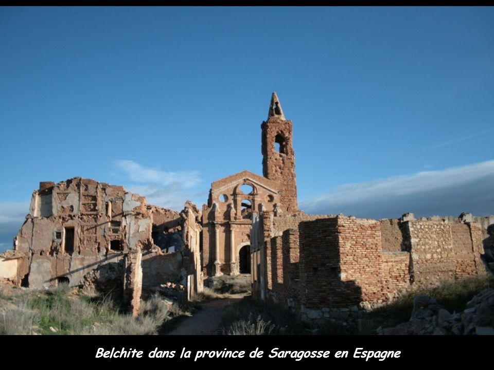 Belchite dans la province de Saragosse en Espagne