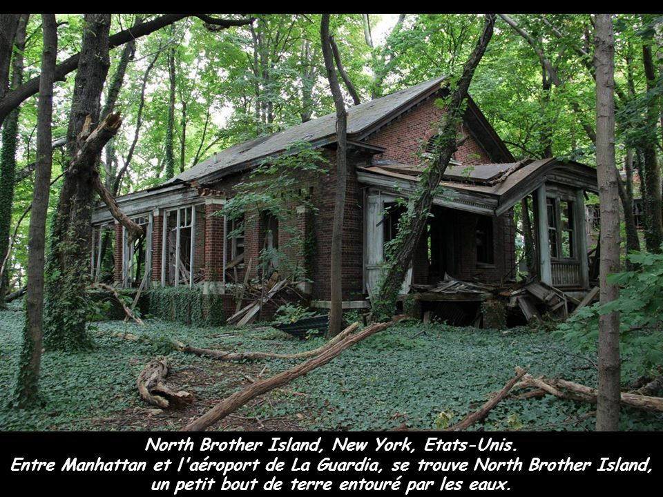 North Brother Island, New York, Etats-Unis.
