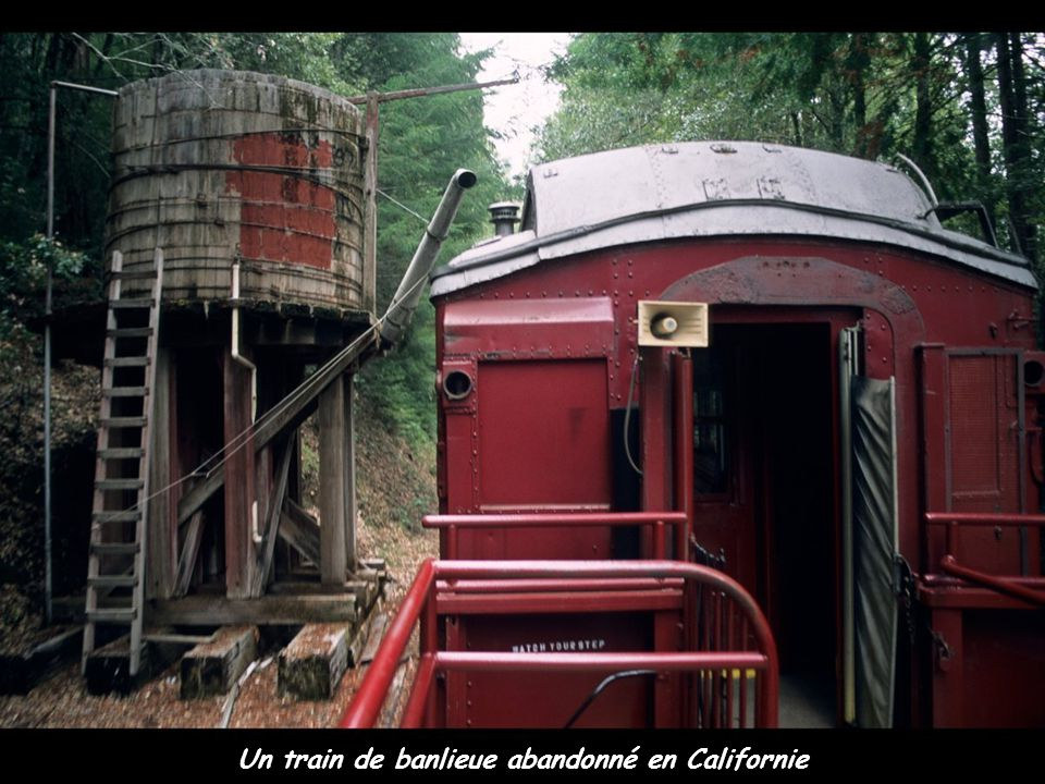 Un train de banlieue abandonné en Californie