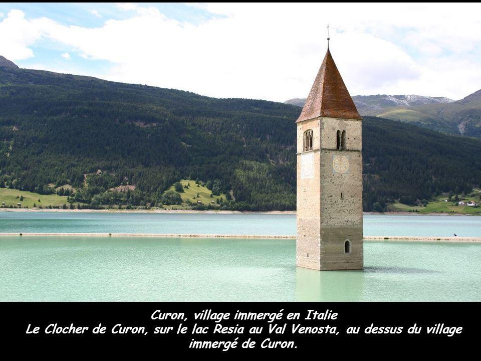 Curon, village immergé en Italie