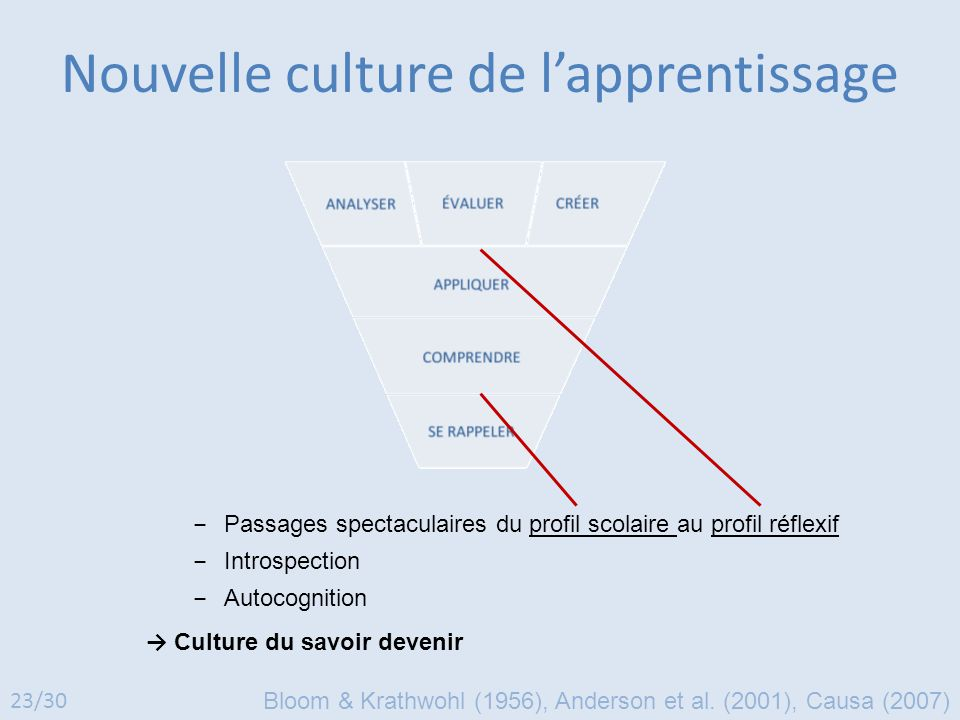 Nouvelle culture de l'apprentissage