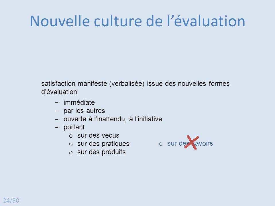 Nouvelle culture de l'évaluation