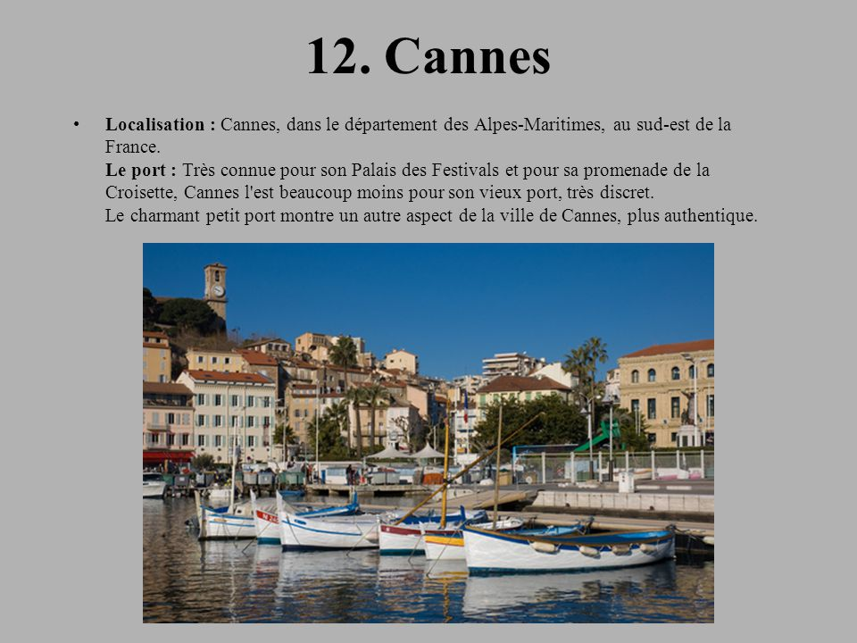 12. Cannes