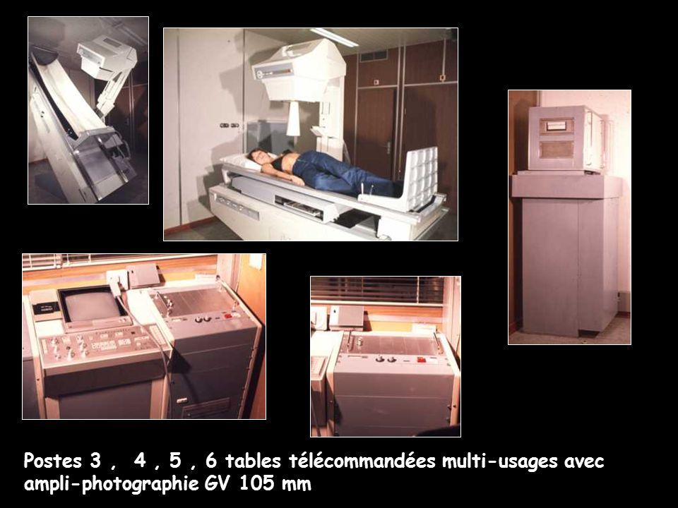 Postes 3 , 4 , 5 , 6 tables télécommandées multi-usages avec ampli-photographie GV 105 mm