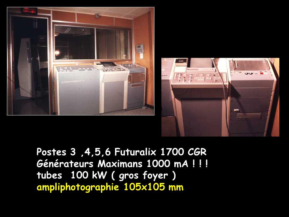 Postes 3 ,4,5,6 Futuralix 1700 CGR Générateurs Maximans 1000 mA ! ! ! tubes 100 kW ( gros foyer )